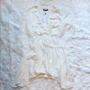 Wells Grace NWT white bell sleeve dress